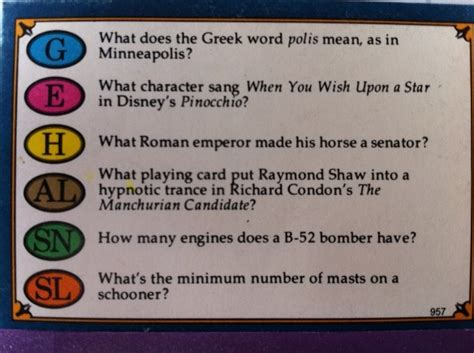 make your own trivial pursuit cards i bet you think nero is the answer to the history
