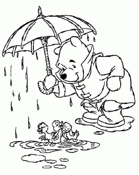 duck in the rain colouring page kindergarten coloriage disney 209 dessins 224 imprimer et 224 colorier