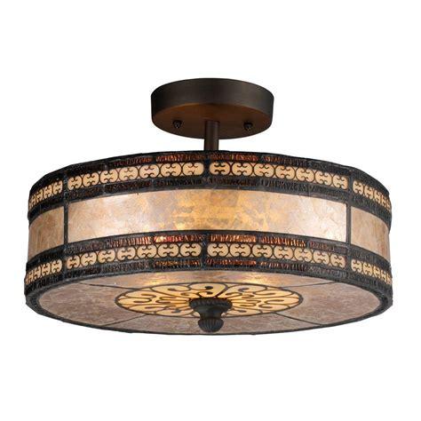tiffany flush mount ceiling light titan lighting mica filigree 2 light tiffany bronze