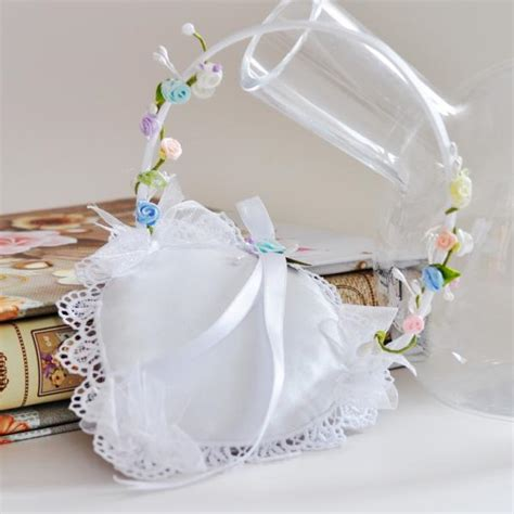 wedding ring basket decorated with flowers kx004 prices