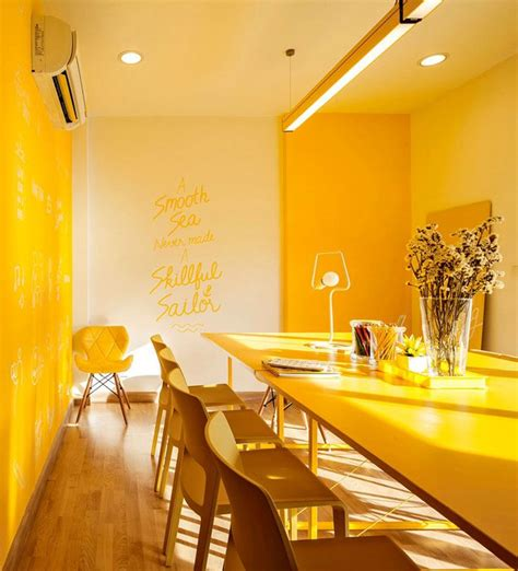 yellow interior best 25 yellow office ideas on pinterest yellow color