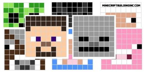 main minecraft character pixel templates minecraft