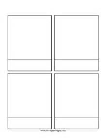 four panel comic template printable comic page with story line