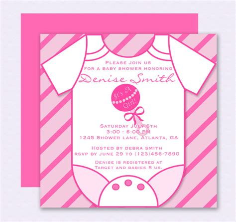 Free Baby Shower Invitations Templates Pdf by Onesie Invitation Template 15 Free Psd Vector Eps Ai
