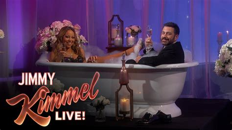 mariah carey bathtub jimmy kimmel interviews mariah carey in a bathtub youtube