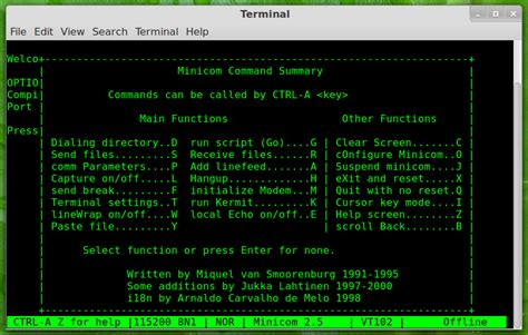 tutorial minicom linux minicom linux mint community