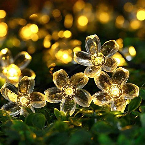 cherry blossom string lights cherry blossom solar string lights 23ft 50 led waterproof