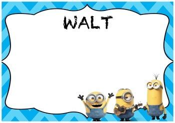 walt wilf and tib minion po by gen y teacher teachers