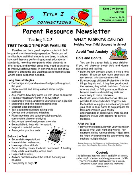 education world newsletter templates best photos of parent newsletter exles sle parent