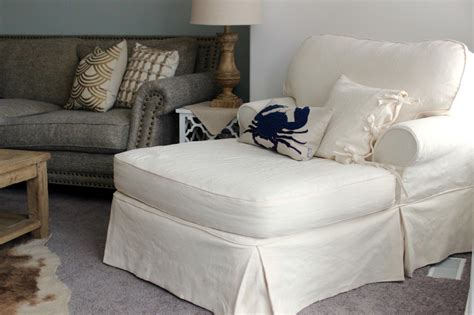 white linen slipcovers white linen chaise slipcovers by shelley