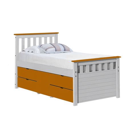 captins bed ferrara storage captain s bed with drawers and cupboard