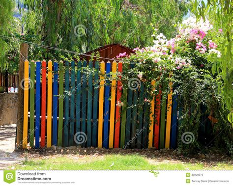 Multi Gate paint garden gate stock photo image 49229979