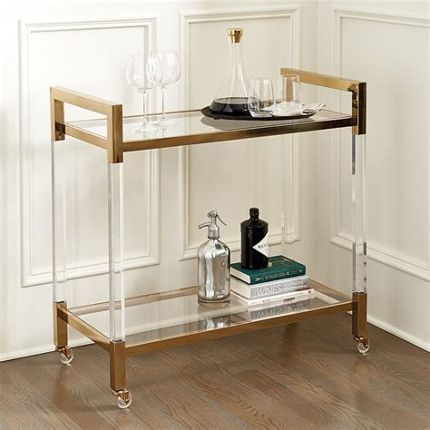 ballard designs bar cart hallen acrylic bar cart ballard designs