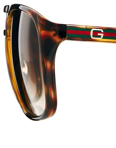 9885 3 Gucci 3 In 1 lyst gucci aviator sunglasses in brown for