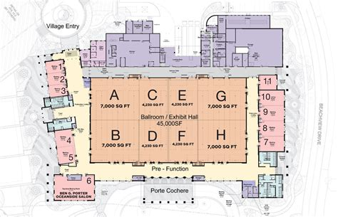 convention center floor plans features jekyll island georgia s vacation