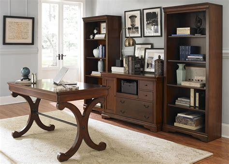 Cherry Home Office Furniture Harbor Ridge Rustic Cherry Home Office Set From Liberty 378 Ho107 Coleman Furniture