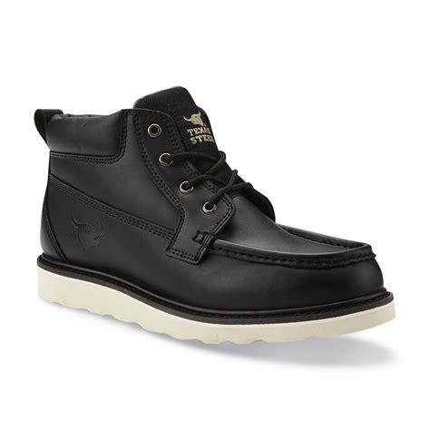 steer s ultan black soft toe work boot shoes