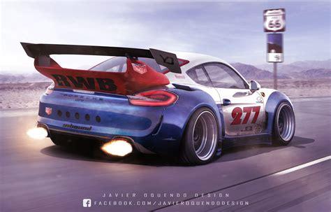 Rauh Welt Begriff Porsche Cayman Gt4 Rendering Is Absurdly