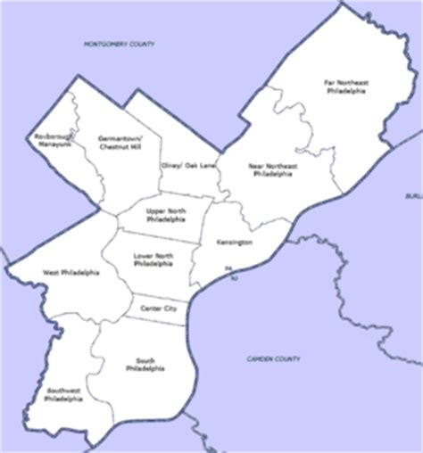 philadelphia county map list of philadelphia neighborhoods