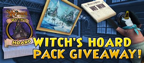 Wizard101 Code Giveaway - wizard101 witch s hoard pack giveaway mmorpg com