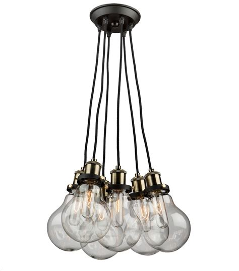 Hanging Pendant Light Artcraft Ac10485 Edison Multi Hanging Pendant Lighting Ac10485