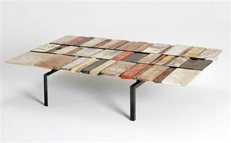 colorful driftwood coffee tables made by australian