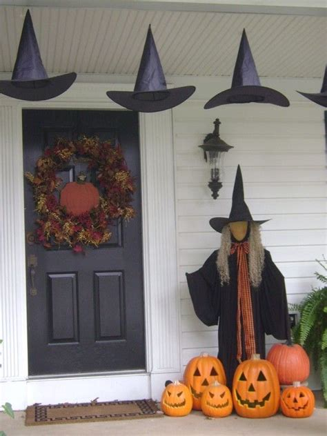 Decorating Witch Hat Ideas by Witch Outdoor Decorations Decoration