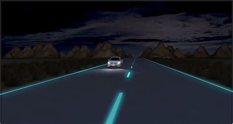 glow in the paint roads this road glows in the smart news smithsonian