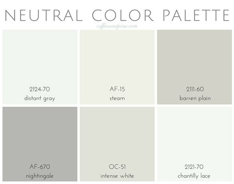 coffee and pine neutral color palette