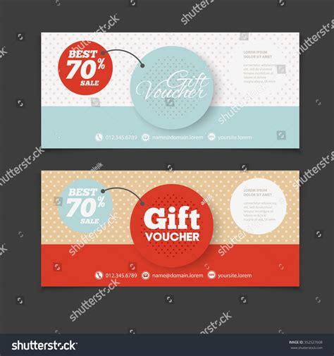 Abstract Gift Voucher Coupon Design Template Stock Vector 352527608 Shutterstock Gift Flyer Template