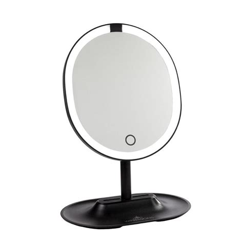 black touch control lighted makeup mirror impressions vanity co touch wave motion activated led