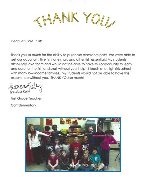 Thank You Letter Grade 4 thank you letter to 1st grade 28 images how to write a