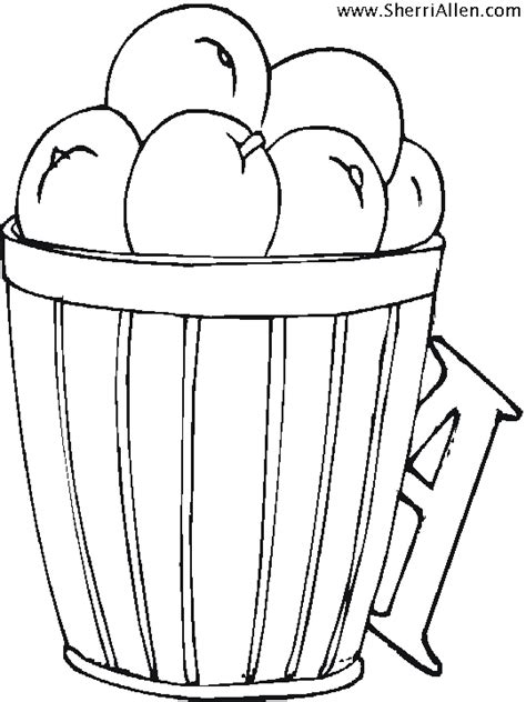 coloring pages apple basket free coloring pages of basket of apples