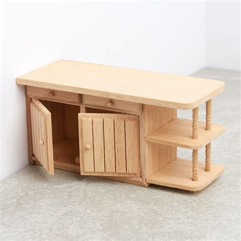 unfinished wooden doll house unfinished wood dollhouse kitchen island miniature furniture dollhouse miniatures