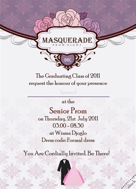prom night invitation card by loloniie on deviantart