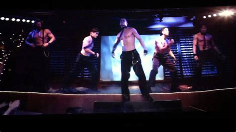 magic mike stripping scene it s raining men youtube