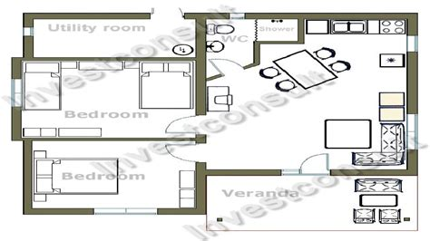 small two bedroom house floor plans house plans with two