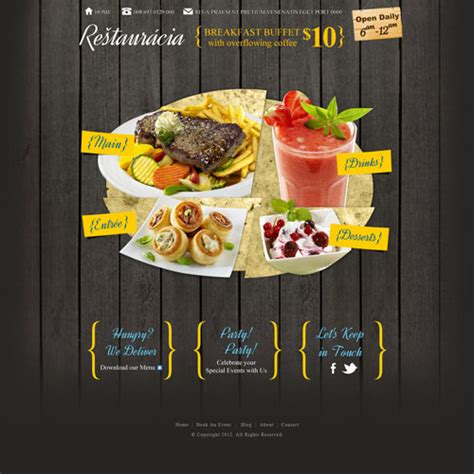 free templates for restaurant website restaurant website template design free website templates