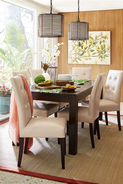 parsons dining table pier 1 1000 images about dining rooms tablescapes on