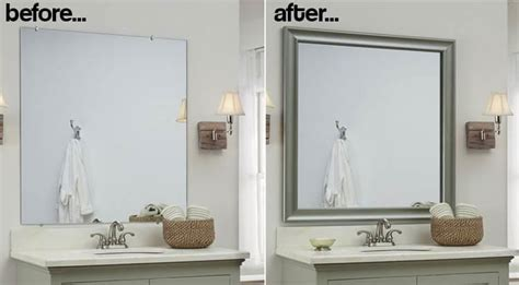 diy bathroom mirror frame ideas these genius and easy diy bathroom ideas will you