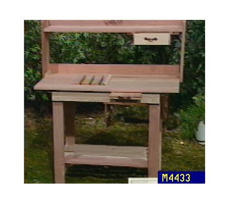redwood potting bench redwood potting bench system qvc com