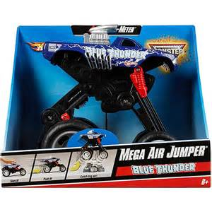 Wheels Jumping Truck Wheels Mega Air Jumper Jam Blue Thunder