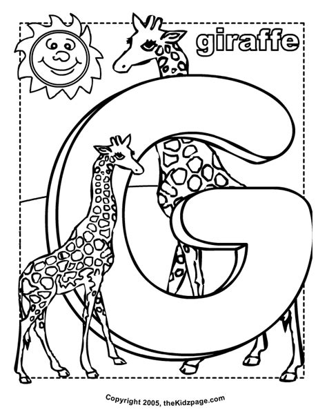 letter g giraffe coloring page g is for giraffe free coloring pages for kids