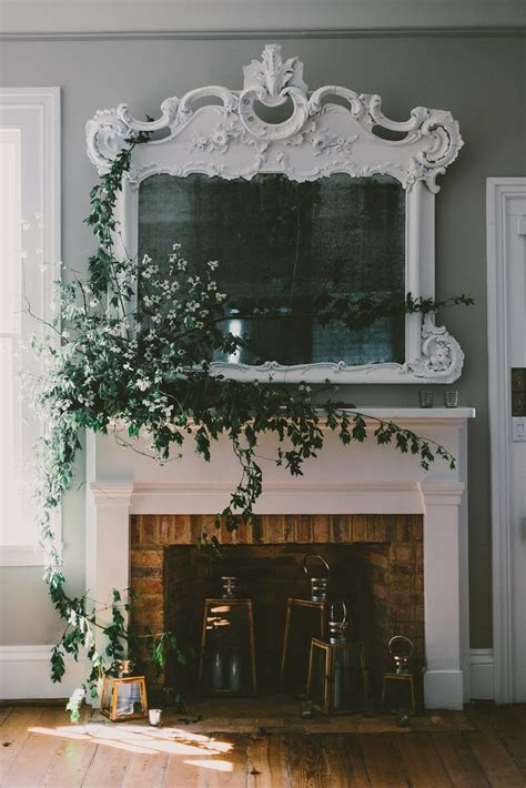 1000 ideas about mantle mirror on