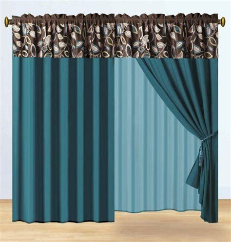 Gold And Teal Curtains 1000 Images About Curtain Idead On Pinterest Bay Window Treatments Brown And Kestrel
