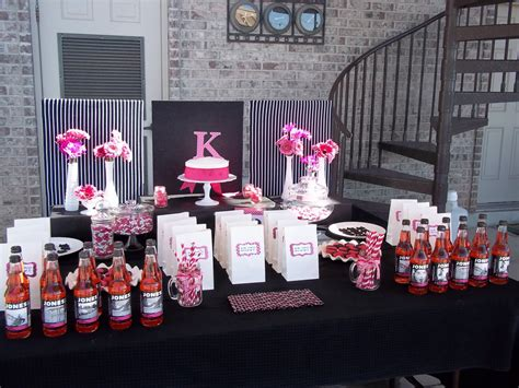 Pink And Black Birthday Decorations by Pink And Black Decorations Favors Ideas