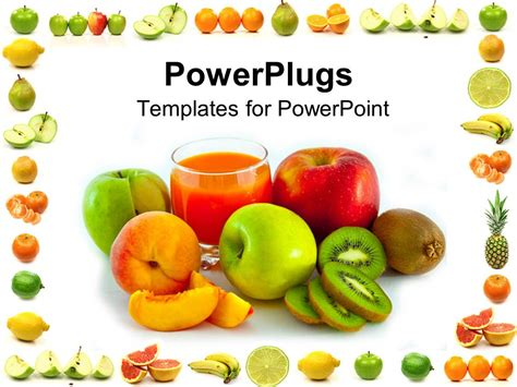 powerpoint templates vegetables free download powerpoint template a number of fruits with white