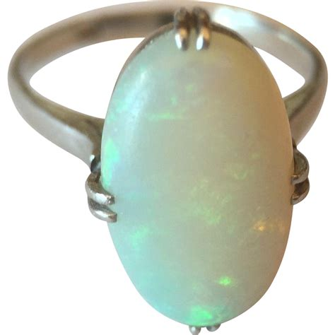 antique platinum opal ring from smallfinds rl on ruby