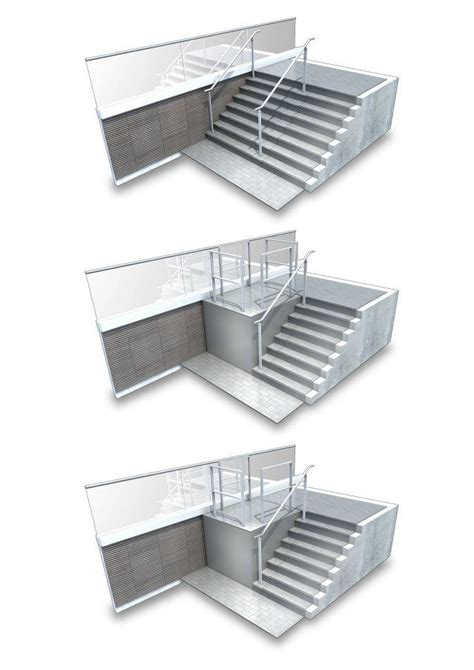 Platform Stairs Design Ghayda A Retractable Stairs To Platform Lift