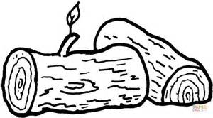 logs coloring page free printable coloring pages